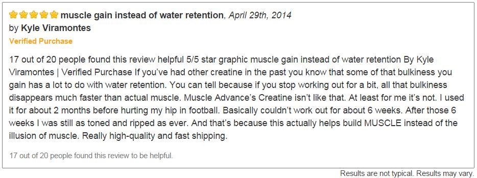 Muscle Advance Testimonial 1