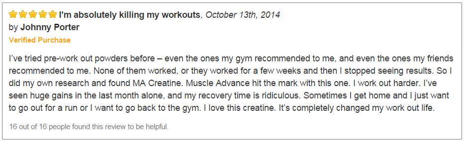 Muscle Advance Testimonial