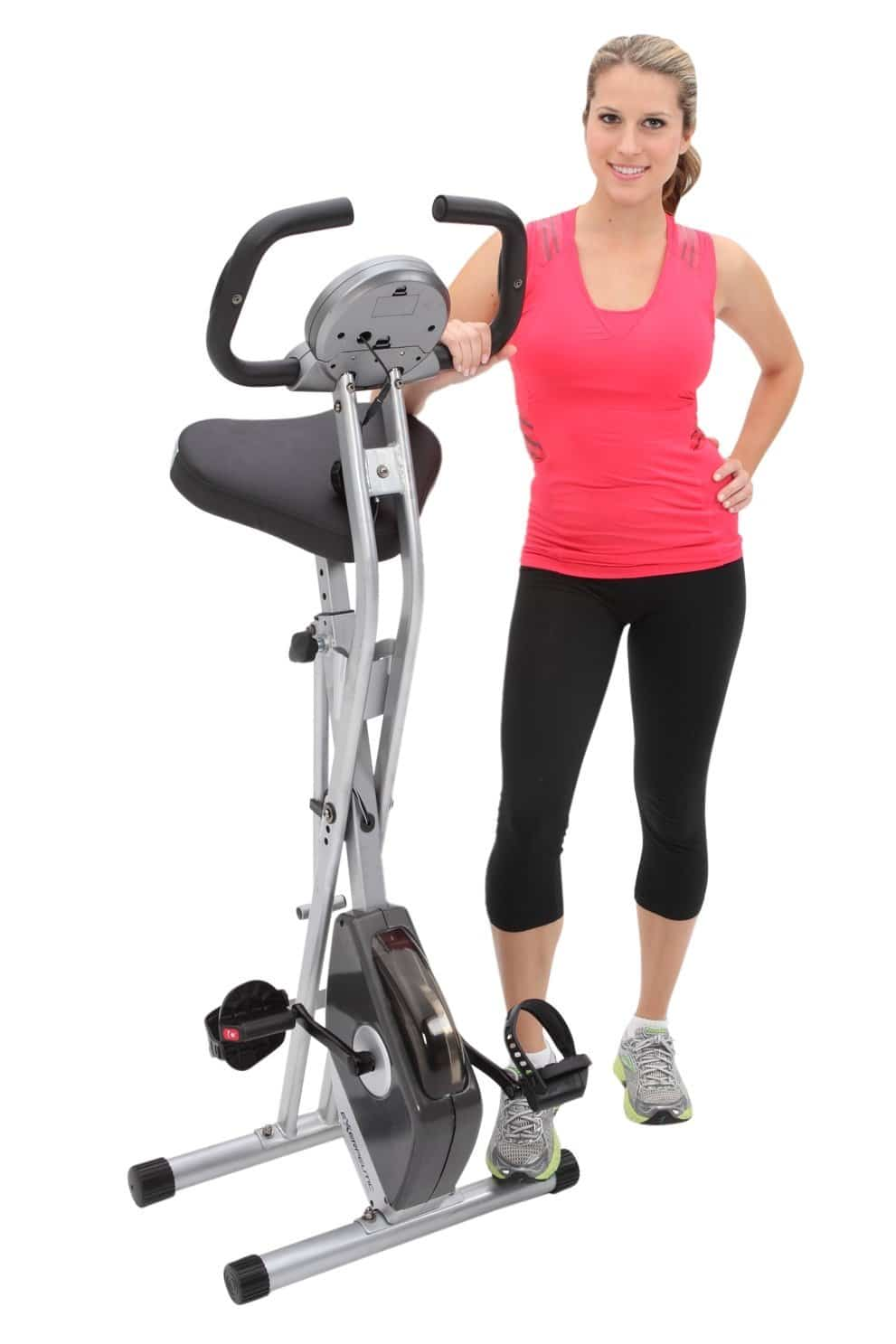 Exerpeutic Folding Magnetic Upright Bike-min