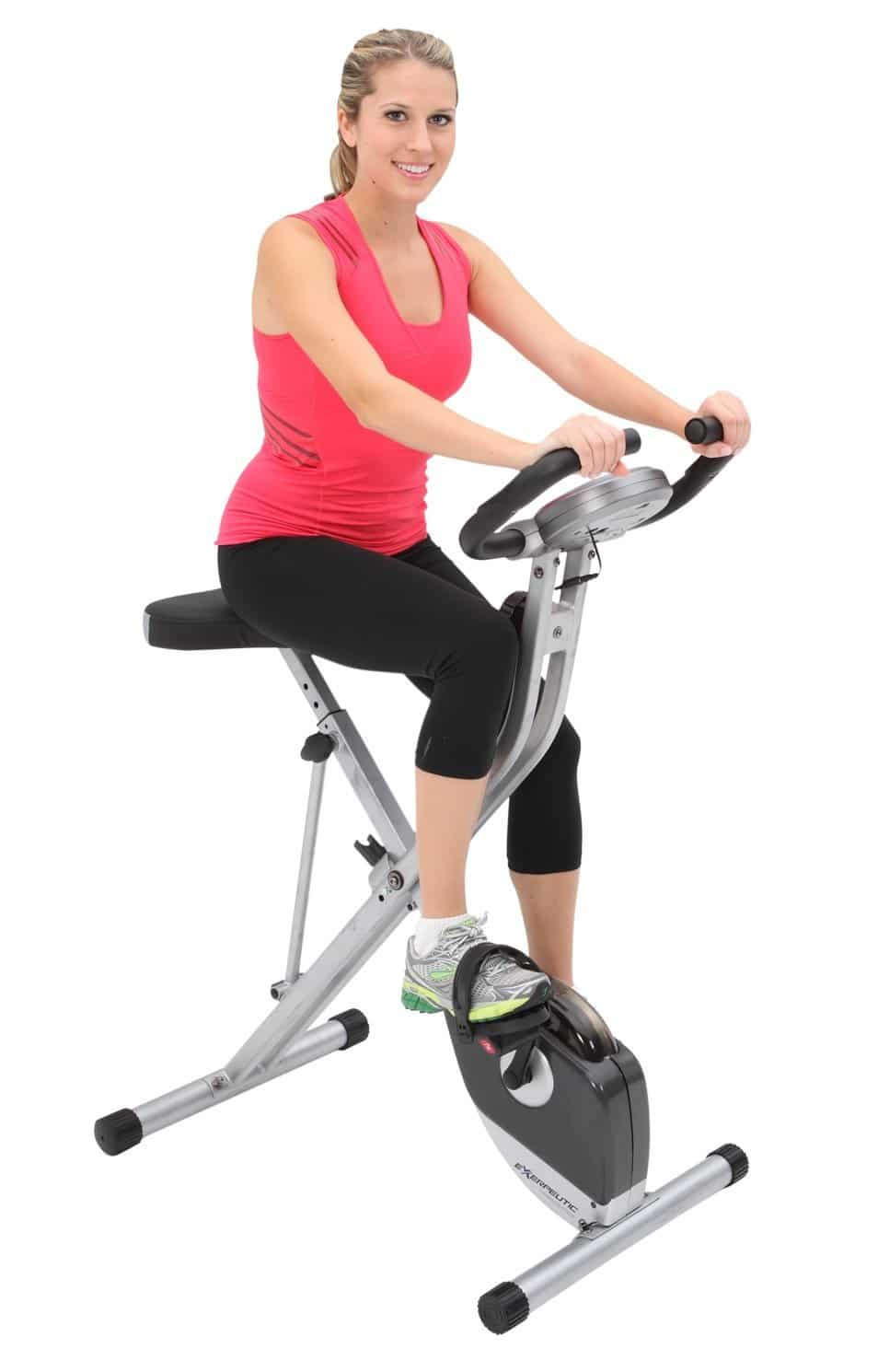 Exerpeutic Folding Magnetic Upright Bike ride-min