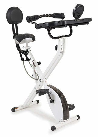 The FitDesk 3.0 Lightweight Folding Exercise Bike with Desk